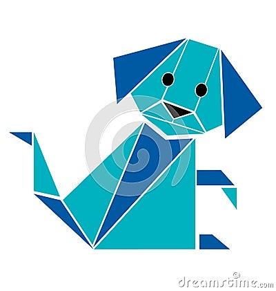 Dog origami style