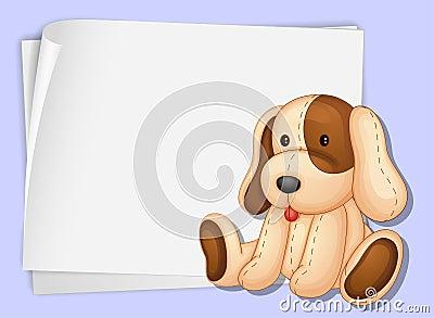 Dog on paper