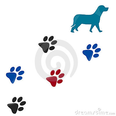 dog pictures to print. DOG PAW PRINT (click image to