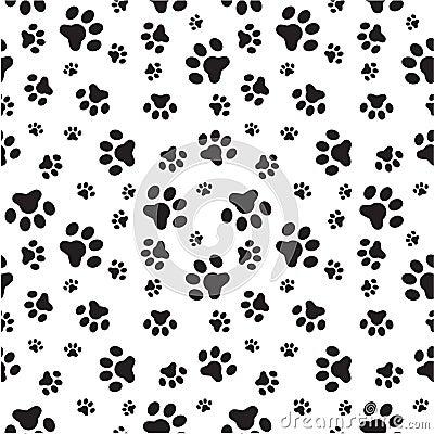 Free Dog Paws Seamless Pattern Stock Photography - 33365592