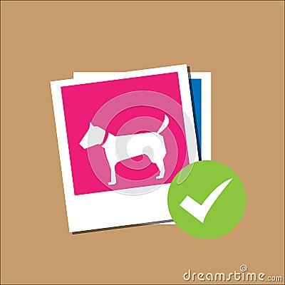 Dog in Polaroid paper frame