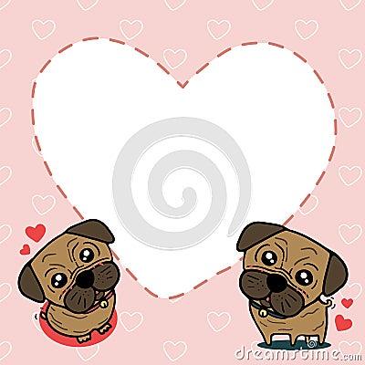 Dog (Pug) with sweet card
