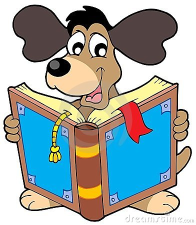 Free Dog Reading Book Stock Images - 8254144