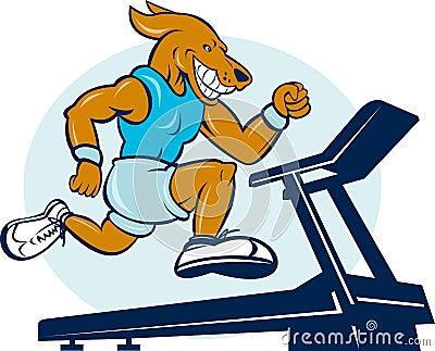 Dog running jogging tread mill