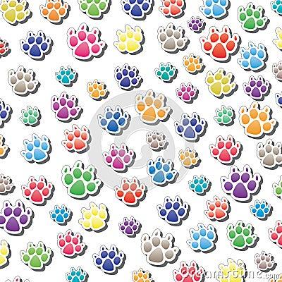 Dog s foot prints
