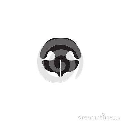 Free Dog`s Nose Icon. Logo Element For Pet Shop, Vet Stock Images - 85597544