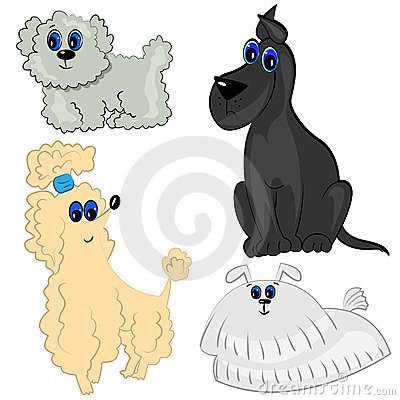 Dog set. pet collection illustration