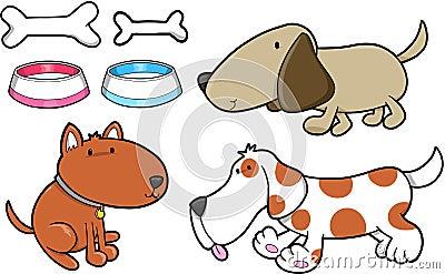 Dog Set Vector