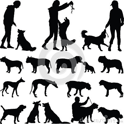 Free Dog Silhouette Stock Photography - 67454992