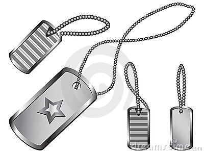 Dog Tag Set Stock Image - Image: 19566981