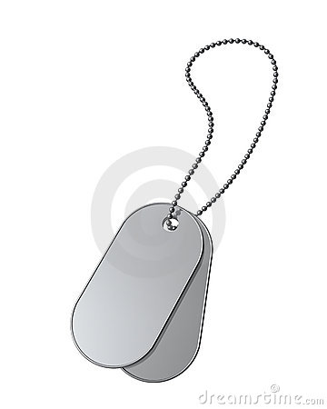 Dog Tags on white