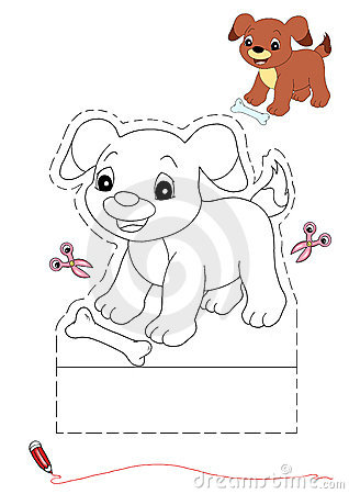 Dog to be color and to cut out