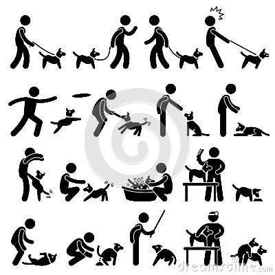 Free Dog Training Pictogram Royalty Free Stock Image - 27266176
