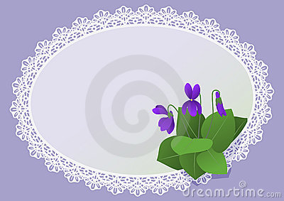 Dog-violets invitation card