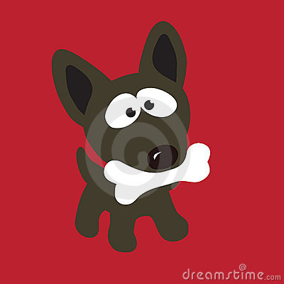 Free Dog With Bone Stock Photo - 8937000