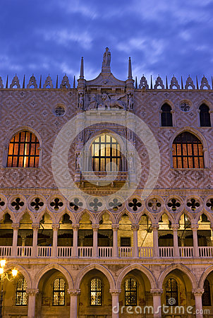 Doge s Palace in Venice sunrise detail