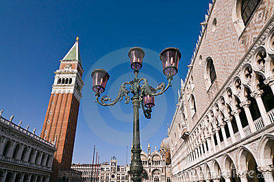 Doges Palace and campanile in Venice