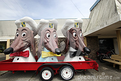 Doggie Diner Remnants Editorial Stock Image