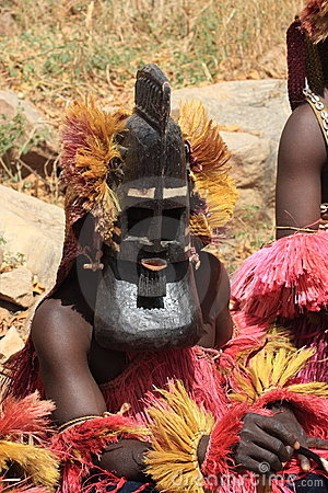 The Dogon tribe funeral masquerade Editorial Stock Photo