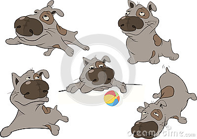 Dogs. Cartoon. Clip art