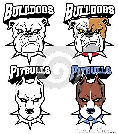 Dogs mascot set