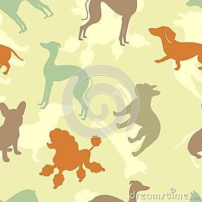 Dogs seamless pattern