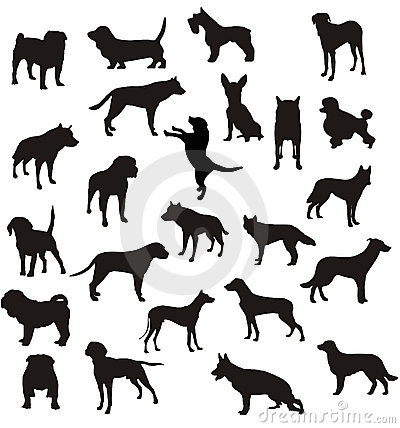 Dogs shapes vector