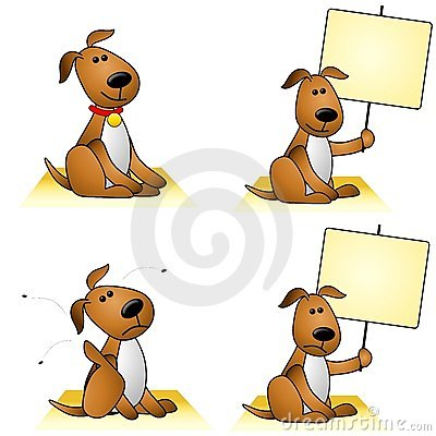Free Dogs With Fleas And Signs Royalty Free Stock Photo - 5379895
