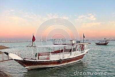 Doha bay Qatar sunset