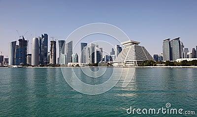 Doha downtown skyline