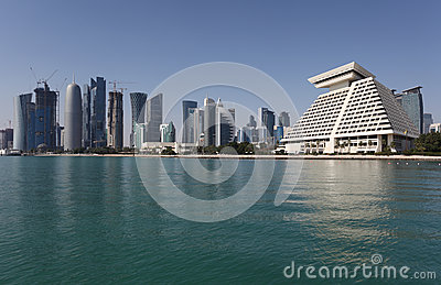 Doha downtown skyline