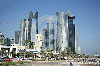 Doha financial and administrative district Editorial Photo