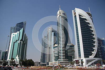 Doha financial and administrative district Editorial Stock Image