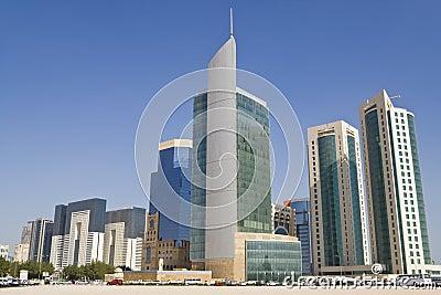 Doha Financial District Skyline, Qatar