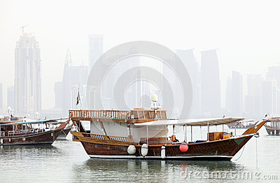 Doha in the mist