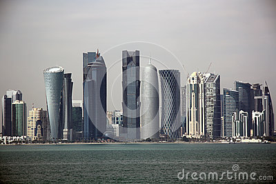 Doha skyline Editorial Photo