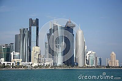 Doha skyline Editorial Stock Photo