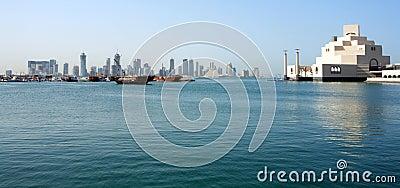 Doha skyline with museum