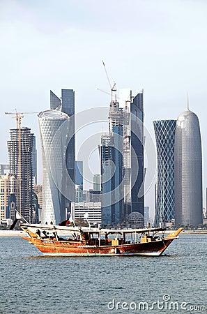 Doha skyline 2012