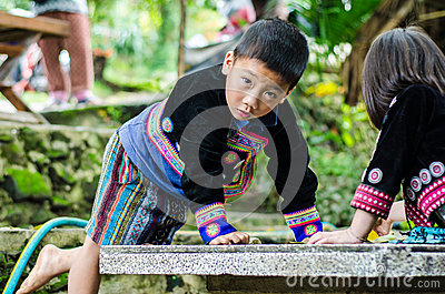 DOI PUI karen children. Editorial Image
