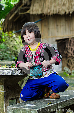 DOI PUI karen children. Editorial Photography