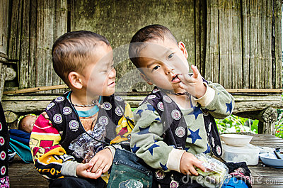 DOI PUI karen children. Editorial Photo