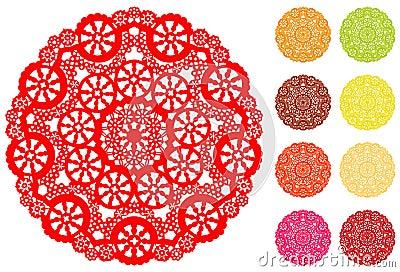Doily 9 φωτεινό χρωμάτων snowflake δαντε&la