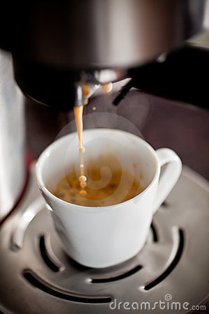 Doing espresso coffee