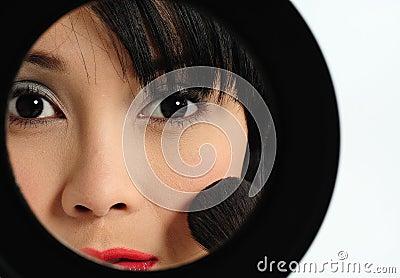 Doing make-up
