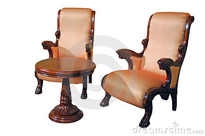 Dois assentos e tabelas