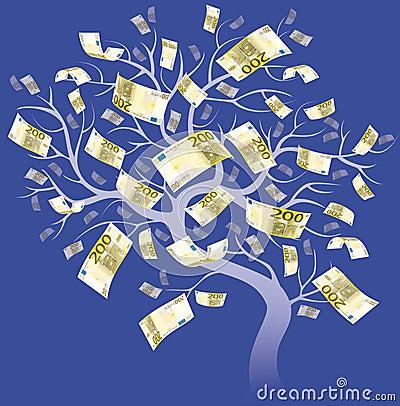 Dois cem árvores do euro