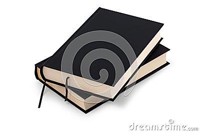 Dois livros pretos - trajeto de grampeamento
