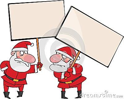Dois Santa irritada