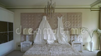 Dois vestidos de luxo para noiva Bridal White filme
